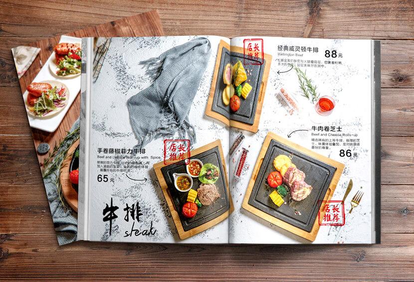 Food photo layout menu design for inspiration