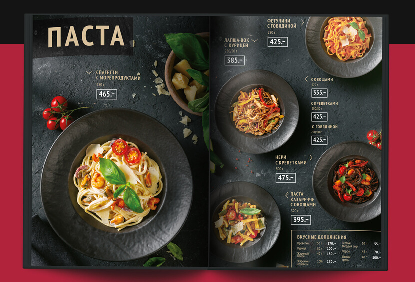 Inspirational Modern Black menu Coffee House menu design