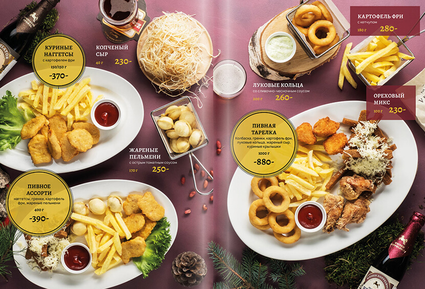 73765677 red menu with vivid pictures menu design for inspiration