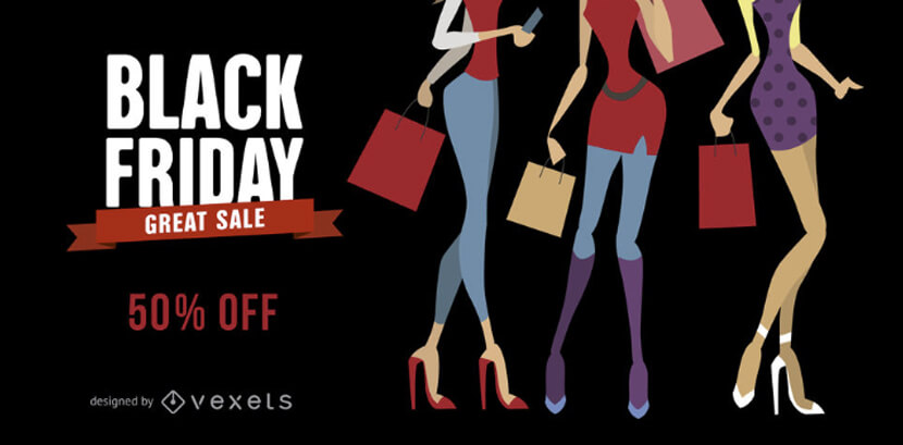 free black friday fashion sale banner