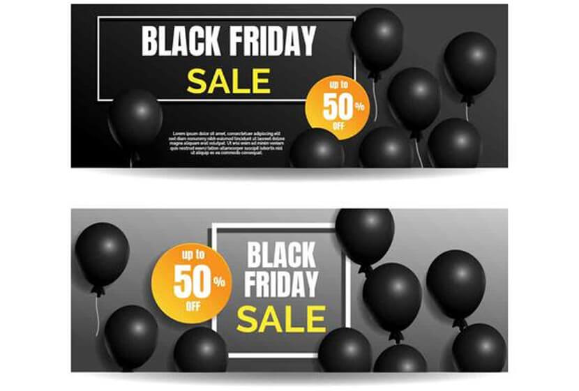 free black friday sale banner vector
