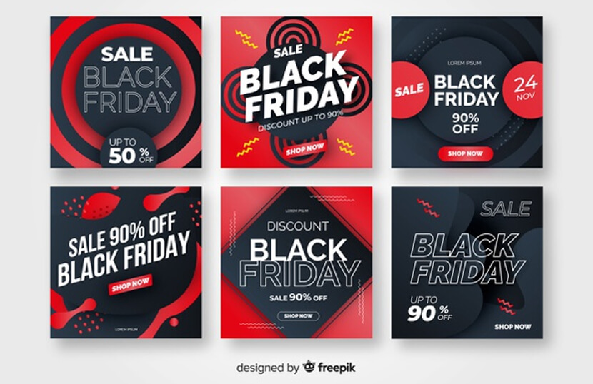 black friday free instagram post collection