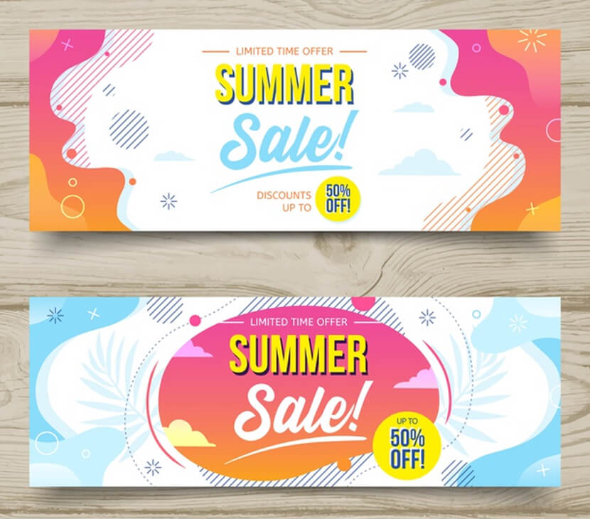 summer sale free liquid banners