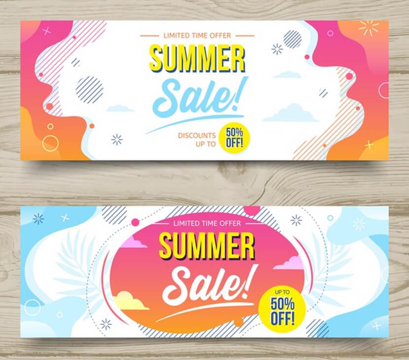 summer sale free liquid banners