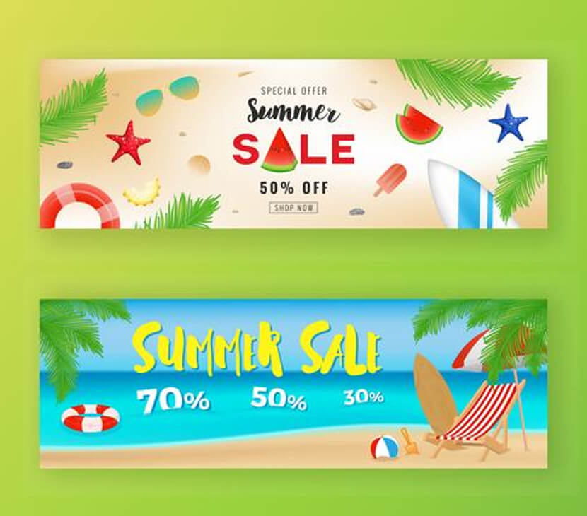 freebie summer sale promotion banner