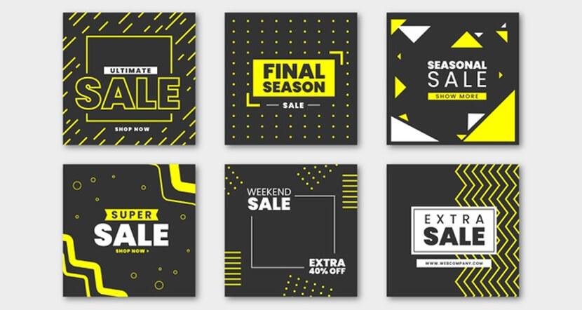 modern sales banner social media