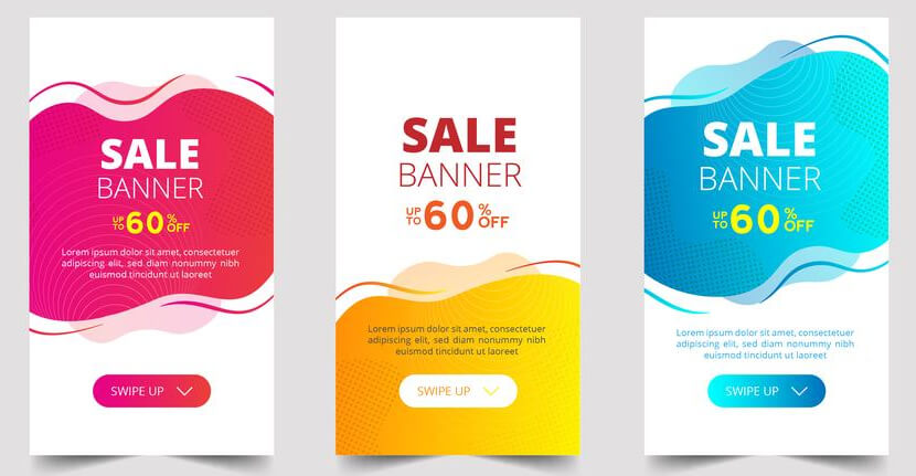 free sale banner template with fresh colors