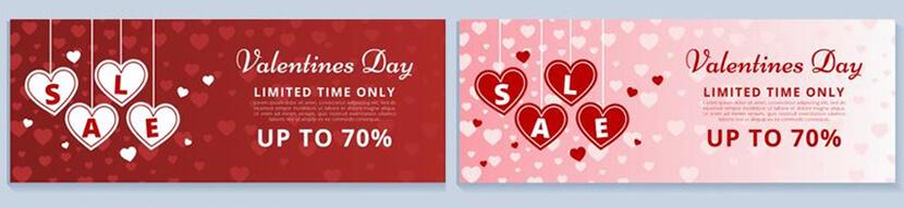 free valentines day sale banner
