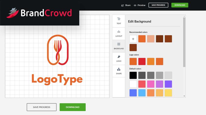 Creador de logotipos de BrandCrowd