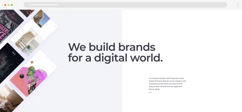 Web design Trends 2020 - typeandpixel website with patterns