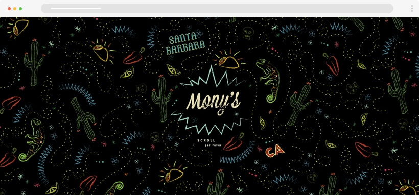 Web design Trends 2020 - monyssb pattern texture in webdesign