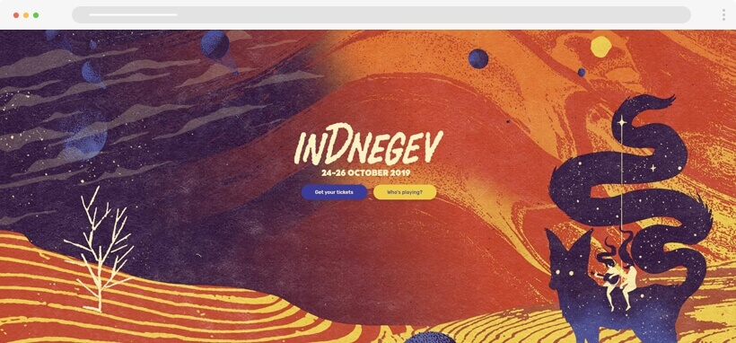 Web design Trends 2020 - indnegev colorful illustrations in web design