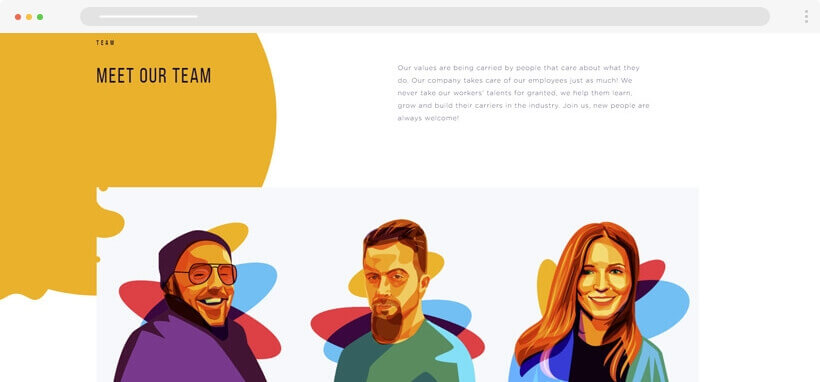 Web design Trends 2020 - belazortech flat illustrations in web design