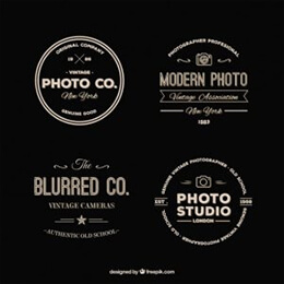 pack retro photography logos