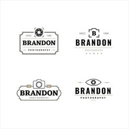 retro photography logo collection