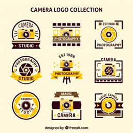 retro photo logos pack