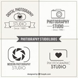 photography studio logos pack