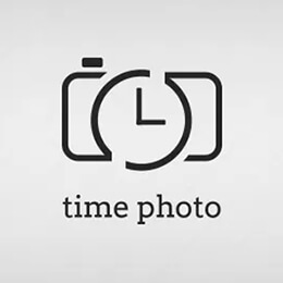 time photo logo template