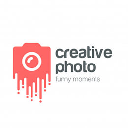creative photo logo vector icon