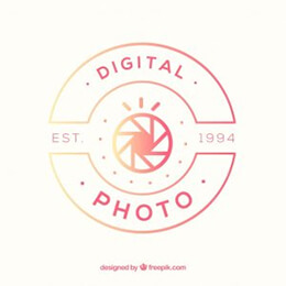 photography logo with gradient colors