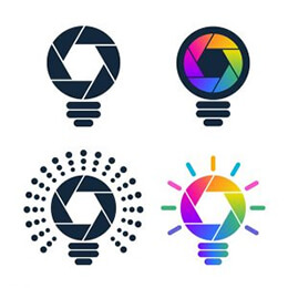 shutter shaped bulb icons