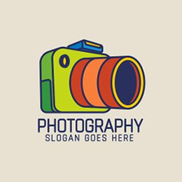 colorful photographer logo