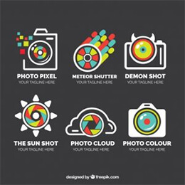 pack logos linear style photography