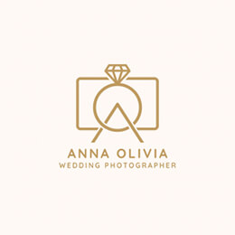 wedding photographer logo vector