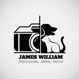 animal photographer logo