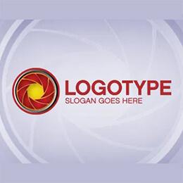camera lens logo template