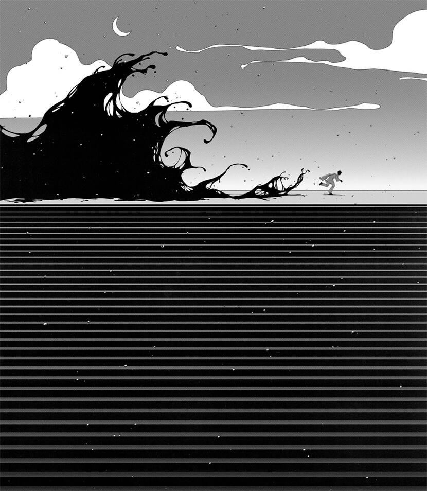 fantasy black and white illustration for inctober