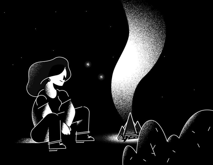 Yule grunge style black and white illustration