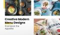 Creative Modern Menu Designs