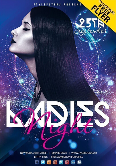 ladies night flyer free psd flyer template