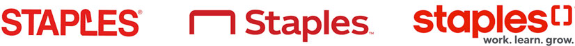 staples logo redesign