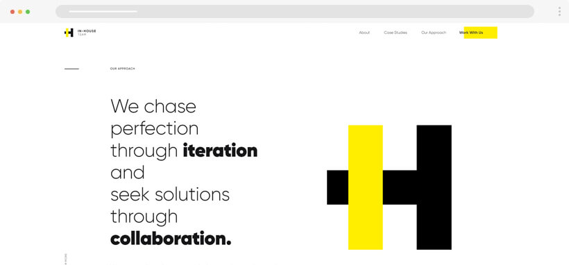 in house team - maxi typography website design