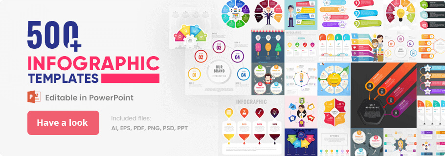 500+ Infographic Templates Collection - Vector Infographics, Psd Infographpics, PowerPoint Infographics