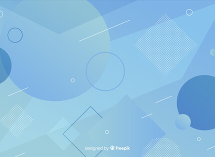 abstract blue shapes free presentation background