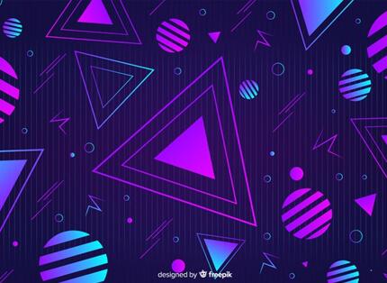 geometric 80s style free presentation background