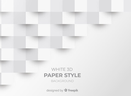 free white 3d paper style presentation background