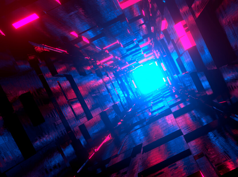 Scifi Hallway red and blue combination for 2020