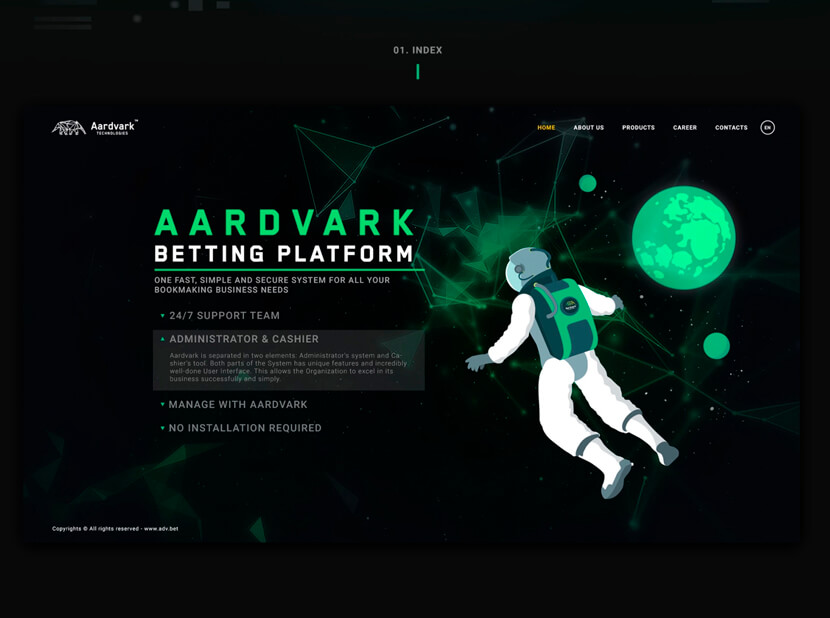 Aardvark Technologies gray and green color combination 2020
