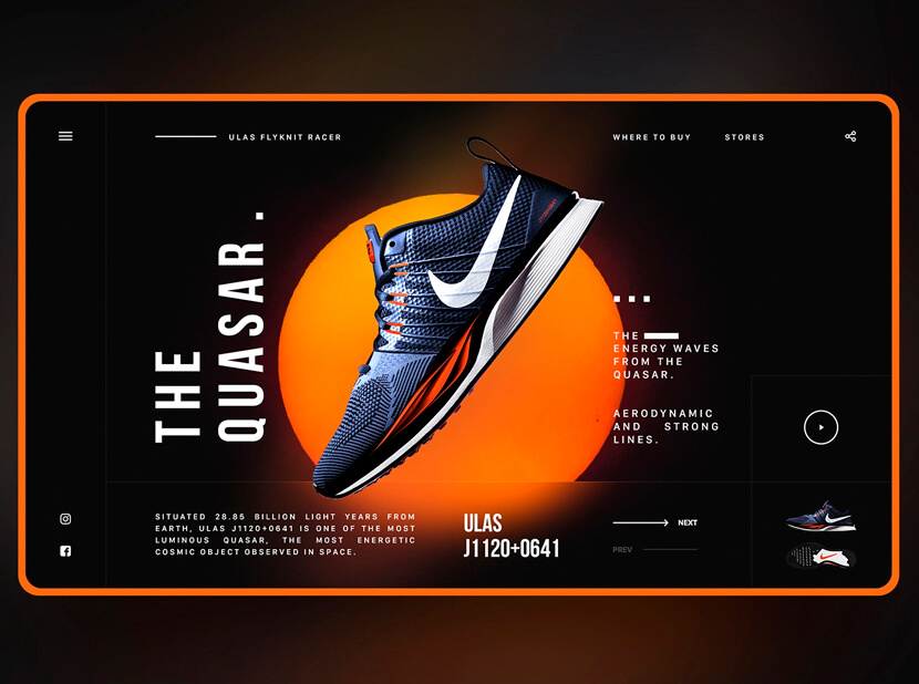 nike dribbble black and orange color combinations 2020 example