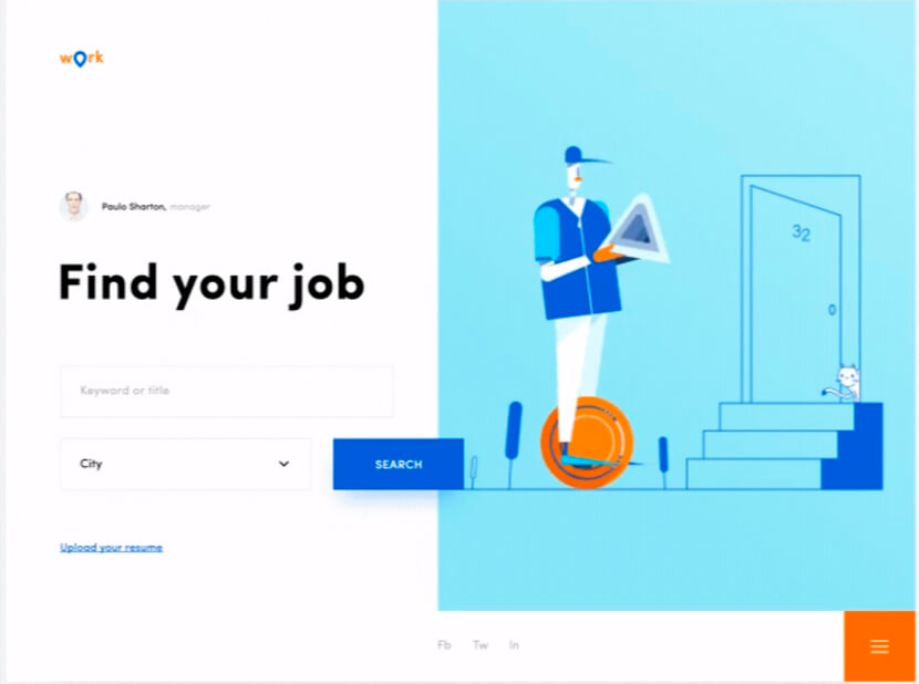 Job search finder blue and orange colors to try in 2020