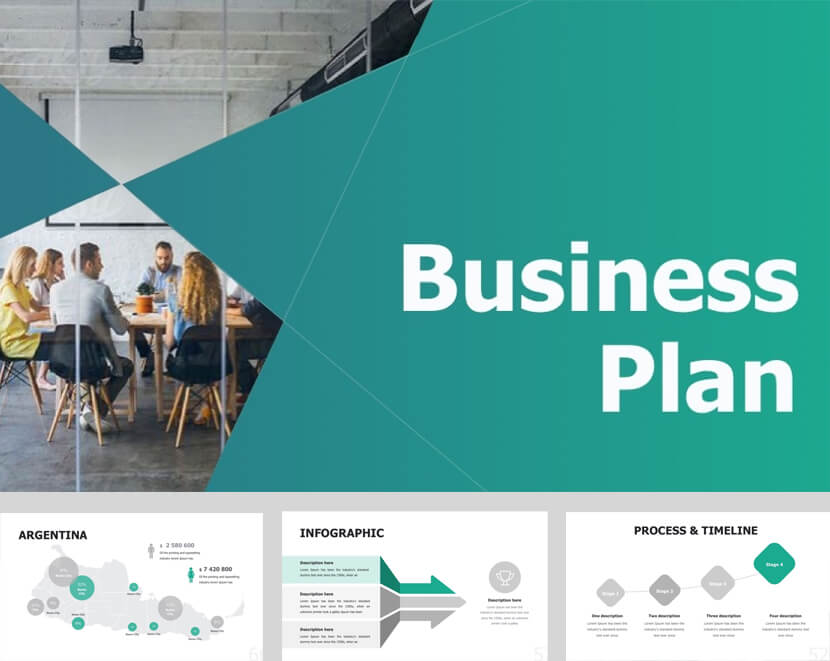 Modern Business Plan Template for Powerpoint