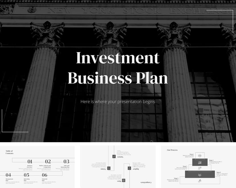 Investment Business Plan Template for Google Slides & Powerpoint