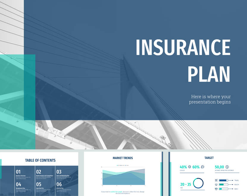 Insurance Free Business Plan Template for Google Slides & Powerpoint
