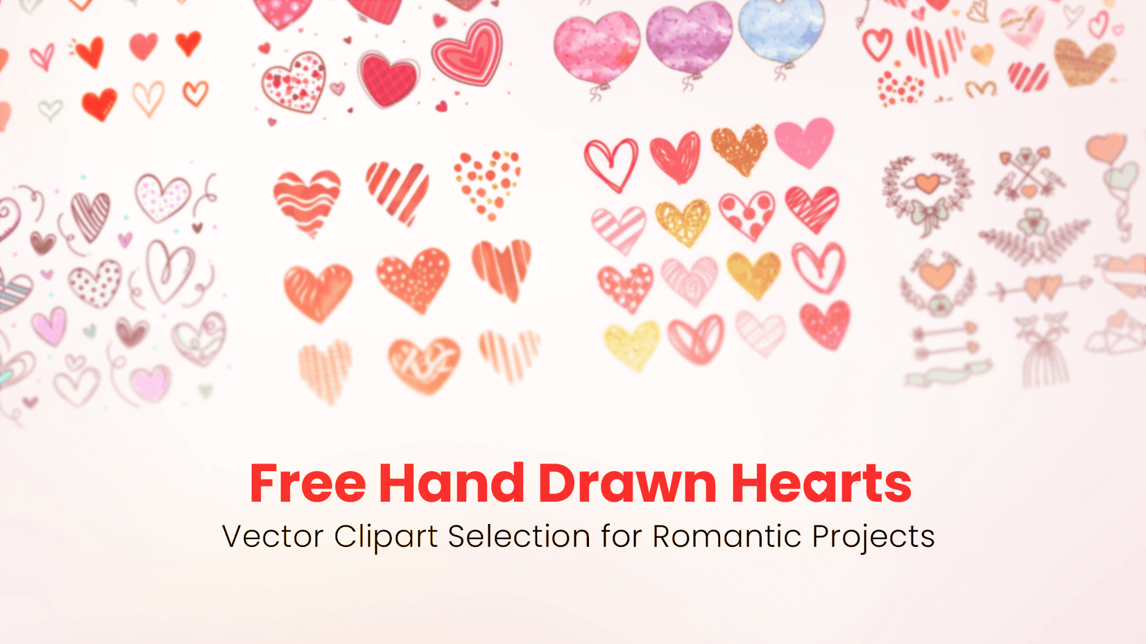 Free Hand Drawn Hearts Vector Clipart Selection For Romantic Projects