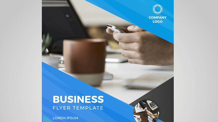 flat modern free business flyer template