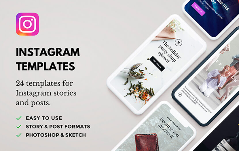 24 Professionally Designed Free Instagram Story Templates